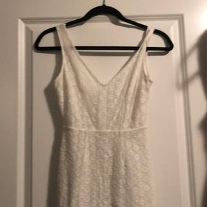 small white dress with open back